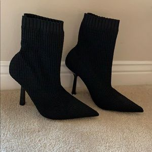 Never Worn Zara Black Sock Boots - Size 7.5